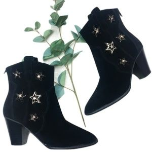 Anna Sui x INC Collab Embellished Star Boots